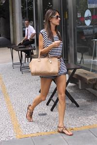 Alessandra Ambrosio out in Sao Paolo on January 30, 2011