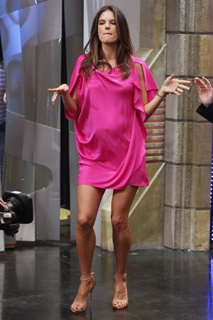 Alessandra Ambrosio on El Hormiguero tv show in Madrid 05.03.2012