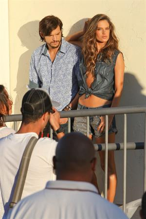 Alessandra Ambrosio on the set of a photoshoot for Colcci in Marina Del Rey 17 06 12