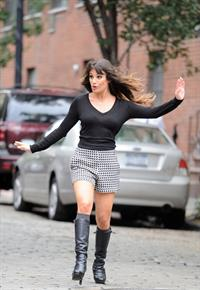 Lea Michele - On the Set of Glee - August 12, 2012