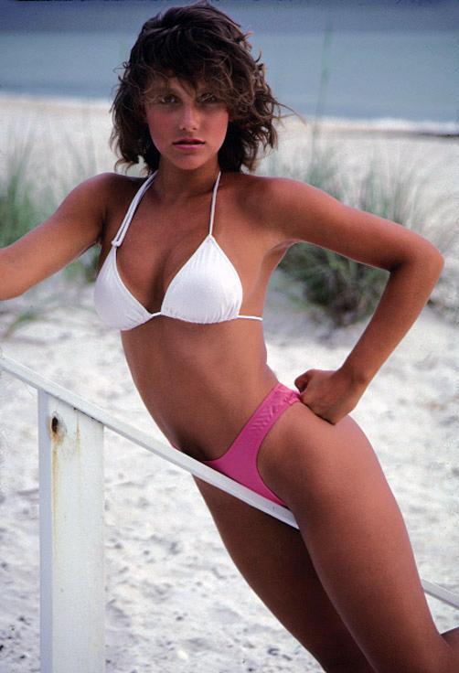 Julie Clarke in a bikini