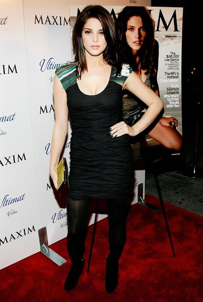 Ashley Greene Maxims December issue celebration in New York City