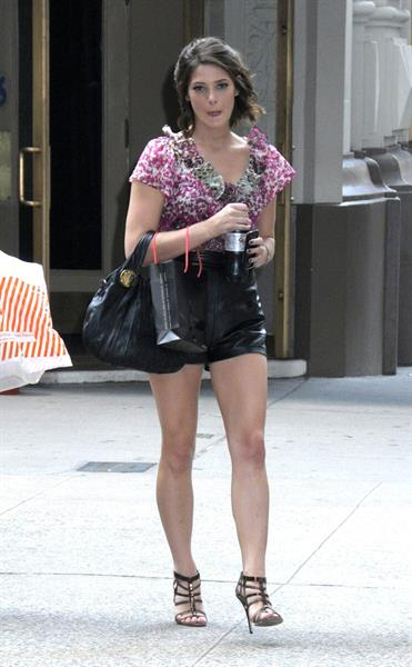 Ashley Greene walking in New York City (candids)