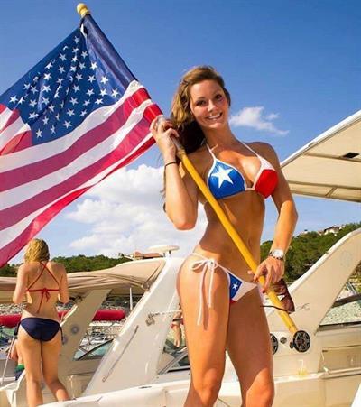 Jena Mays in a bikini