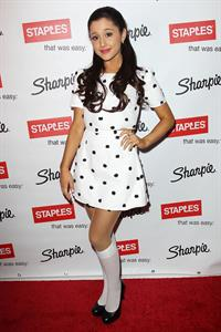 Ariana Grande in knee highs at 1D fan event in NY 11/18/12