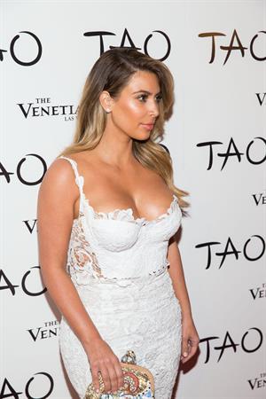 Kim Kardashian Celebrates Her Birthday At Tao Las Vegas on Oct. 25, 2013