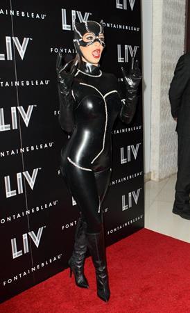 Kim Kardashian - At Halloween Birthday Bash At LIV Nightclub In Florida October 31, 2012