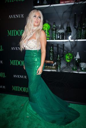 Kim Kardashian - Midori Green Halloween Party October 27, 2012