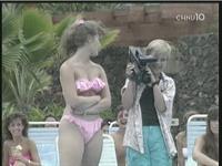Tracey Gold in a bikini
