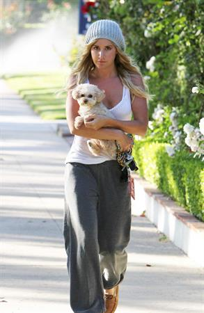 Ashley Tisdale leaving home in Studio City on May 23, 2012