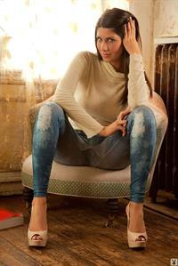 Gorgeous brunette Krystina Moore in high heels
