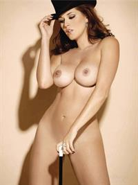 Alicia Machado nude for Playboy Mexico Edition February 2006 in a Top Hat