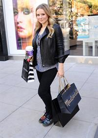 Kristen Bell out shopping at The Americana at Brand in Glendale 10/30/12