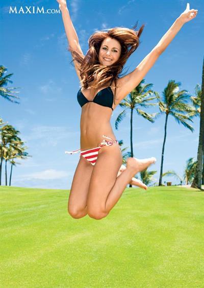 Amanda Mertz in a bikini
