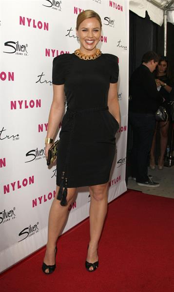 Abbie Cornish - Nylon Magazine 12th anniversary issue party with the sucker punch cast March 24 2011