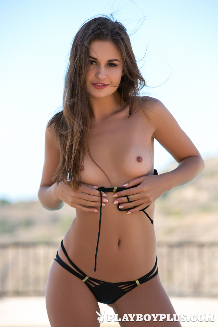 Playboy Cybergirl - Demi Fray Nude nude in the pool for Playboy Plus!