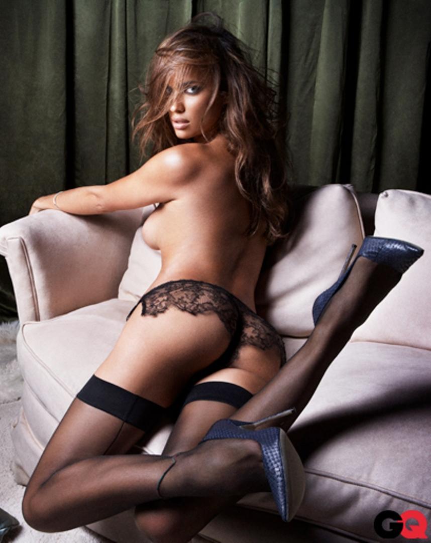 Irina Shayk in lingerie - ass