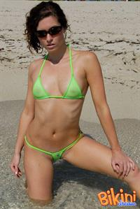 Amber O'Neil for bikinidream.net (Green see through bikini)