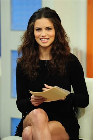 Adriana Lima on The Early Show in New York - March 1, 2011
