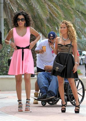 Adrienne Bailon at Miami Beach on April 27, 2012