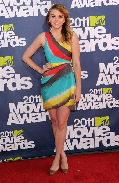 Aimee Teegarden 2011 MTV Movie Awards in Los Angeles on June 5, 2011