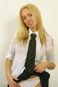 Aisleyne Wallace in a white shirt and tie