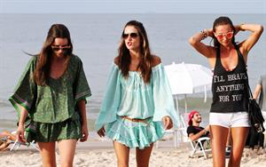 Alessandra Ambrosio - beach candids in LA 1/3/12