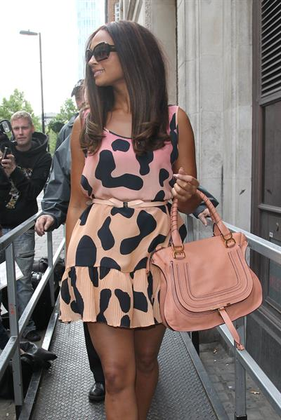 Alesha Dixon - Leaving BBC R1 studios in London - 11-05-12