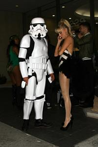 Alessandra Torresani Halloween party candids in West Hollywood, October 31, 2013