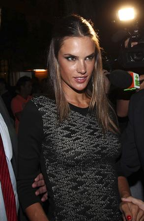 Alessandra Ambriosio attends an after party for Sao Paulo fashion week Brazil on January 23, 2012