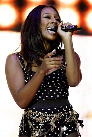 Alexandra Burke performs at the Jingle Bell Ball at the O2 Arena on December 4, 2010