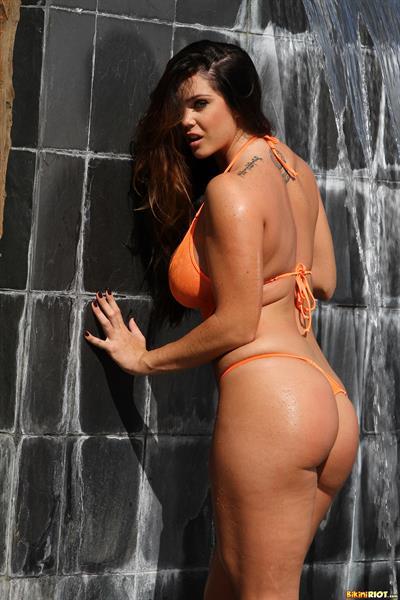 Alison Tyler in a bikini - ass