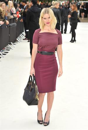 Alice Eve - Burberry Prorsum fashion show in London - September 17, 2012
