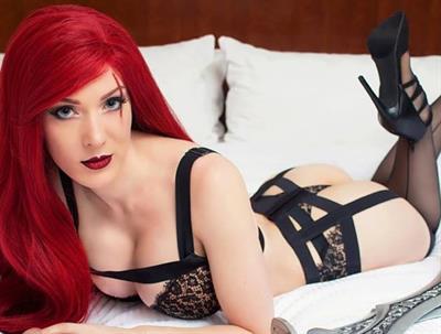 Kristen Hughey in lingerie