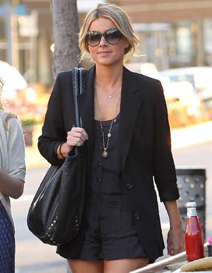 Ali Fedotowsky out for a walk in Beverly Hills on January 25, 2011
