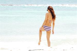 Ali Landry on the beach January 7, 2011
