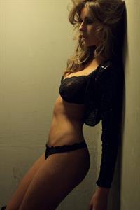 Elle Basey in lingerie