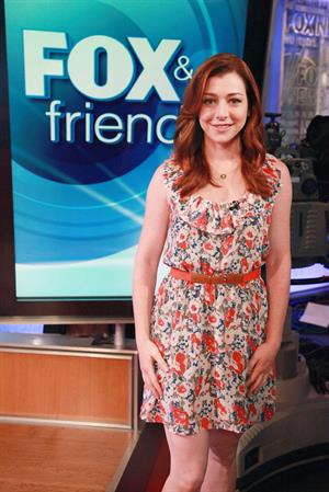 Alyson Hannigan visits Fox Friends July 18, 2011