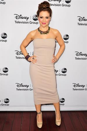 Alyssa Milano 2013 TCA Winter Press Tour - Disney ABC Television Group Red Carpet Gala (Jan 10, 2013)
