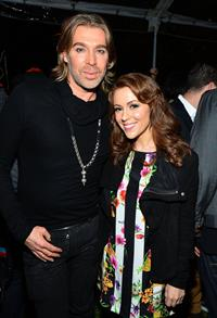 Alyssa Milano Chaz Dean's Holiday Party in Los Angeles (Dec 1, 2012)