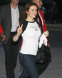 Alyssa Milano - At the LA Kings' game - June 11, 2012