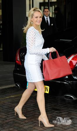 Amanda Holden leaving a hotel in Birmingham on February 18, 2012