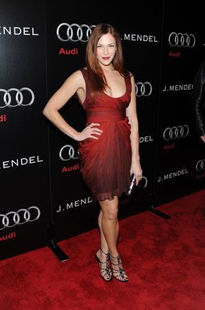 Amanda Righetti Audi and Designer J Mendels kick off Celebration of Golden Globe week 2011