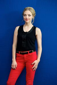 Amanda Seyfried portrait In Time press conference in Beverly Hills on October 15, 2011