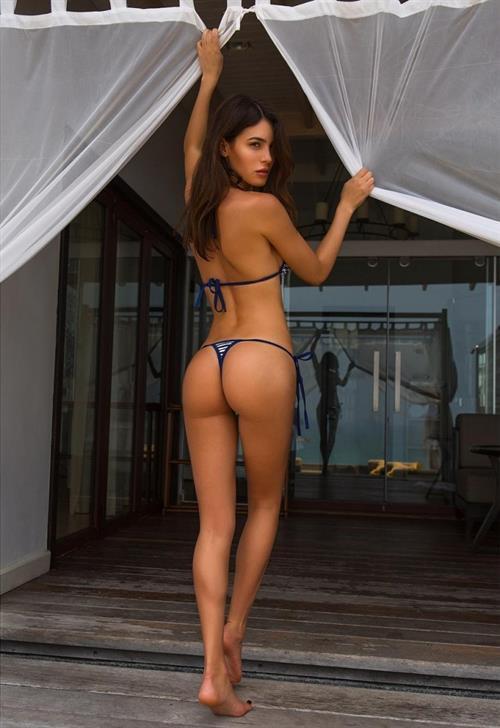 Silvia Caruso in a bikini - ass