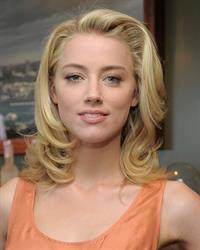 Amber Heard Belvedere Vodka and Krista Smith toast Vanity Fair's June 2011 Vanities in West Hollywood on May 14, 2011
