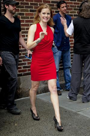 Amy Adams at the Late Show With David Letterman at the Ed Sullivan Theater in New York City