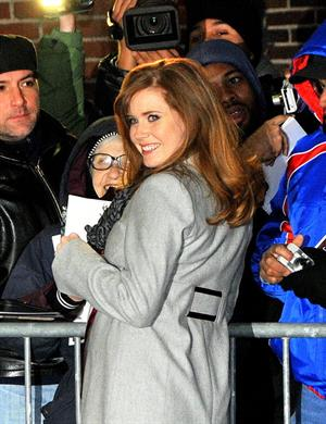 Amy Adams at  the Late Show With David Letterman on January 5, 2010