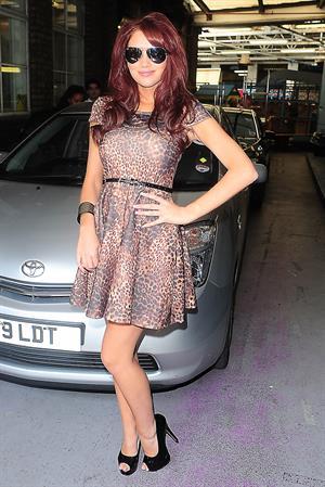 Amy Childs ITV London studios Aug 3, 2011