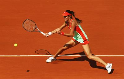 Ana Ivanovic at the 2012 French Open 1st round in Paris on May 27, 2012